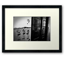 Who lives here... Framed Print