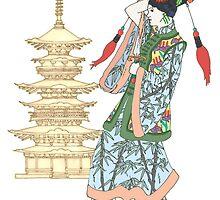 Colourful Pagoda Princess by redqueenself