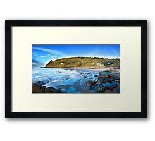The Beach Shacks Framed Print