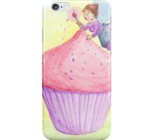 Cherry fairy makes a cupcake iPhone Case/Skin