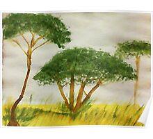 Savannah Series #2, watercolor Poster