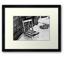 Broken Chair Framed Print