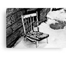 Broken Chair Canvas Print