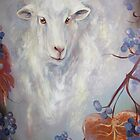 Lamb Encircled with Grapevines by JeffeeArt4u