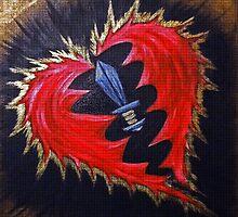 Victory Heart Mosaic by debrajacka