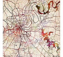 Nashville map Photographic Print