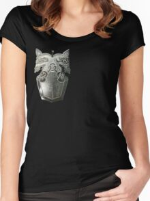 """""""Buliwyf"""" Silver Pendant Women's Fitted Scoop T-Shirt"""
