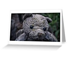angel bear lost his wings Greeting Card
