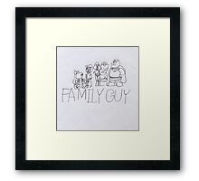 Family Guy Pencil Sketch Framed Print