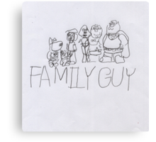 Family Guy Pencil Sketch Canvas Print