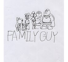 Family Guy Pencil Sketch Photographic Print