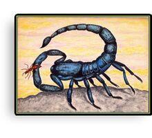 Great Blue Scorpion (1980) Canvas Print