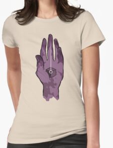 worlds hand, cartoon style!! (i guess) Womens Fitted T-Shirt