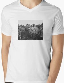 Ike Talking With Airborne On D-Day Mens V-Neck T-Shirt