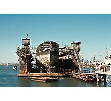 Polly Woodside in Floating Dock 19750223 0006 Photographic Print