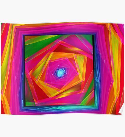 Fractal Full Of Color  Poster