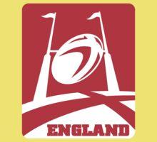 rugby ball goal post england Kids Tee