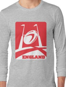 rugby ball goal post england Long Sleeve T-Shirt