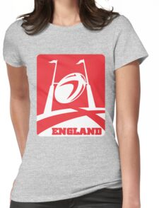 rugby ball goal post england Womens Fitted T-Shirt