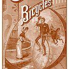 Vintage bicycle advert of 1892 by Kawka
