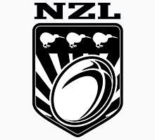 New Zealand Kiwi Bird Rugby Ball Shield Unisex T-Shirt