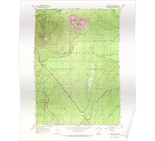 USGS Topo Map Oregon Odell Butte 280960 1967 24000 Poster