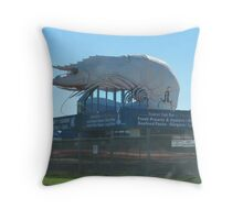 'THE BIG PRAWN! Great seafood at Fishermans Co-op N.S.W. Throw Pillow