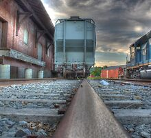 Looking Down the Line in Cortland, NY by Edith Reynolds