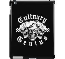 Chef Skull Trio: Culinary Genius (white text) iPad Case/Skin