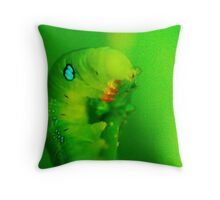 green is my world Throw Pillow