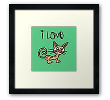 I LOVE CAT Framed Print