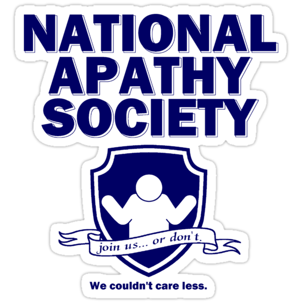 National Apathy Society Blue by AngryMongo