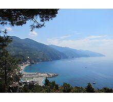 Monterosso Hike, Cinque Terre Italy Photographic Print