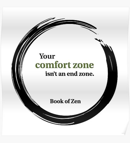 Motivational Comfort Zone Quote Poster