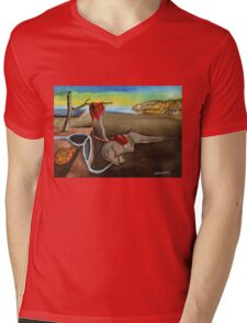 Persistance of Plastic Tee Mens V-Neck T-Shirt