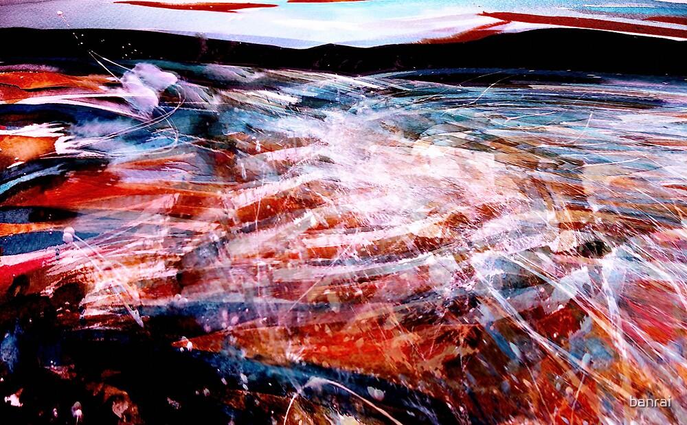 river sea ....spark spray where waters meet by banrai