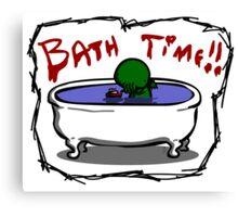 Bathe the elder god!! Canvas Print