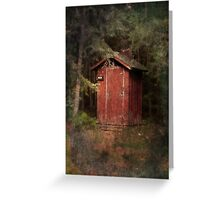 Mead Creek Outhouse Greeting Card