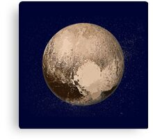 Pluto Painted Canvas Print