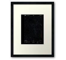 USGS Topo Map Oregon Upton Mountain 20110831 TM Inverted Framed Print