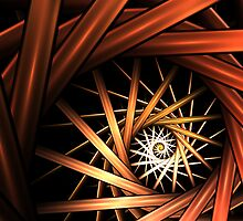 Torrent Abstract Fractal Art by Archetypus