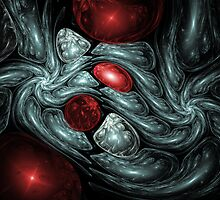 Birth of a Ruby Abstract Fractal Art by Archetypus