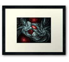 Birth of a Ruby Abstract Fractal Art Framed Print