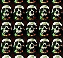 Scary Skulls Grunge Graphic by Phil Perkins