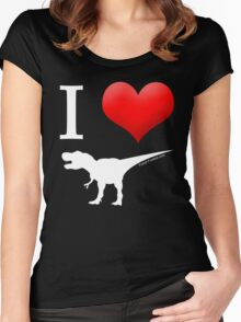 I Heart Dinos Women's Fitted Scoop T-Shirt