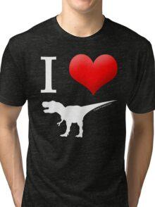 I Heart Dinos Tri-blend T-Shirt