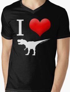 I Heart Dinos Mens V-Neck T-Shirt