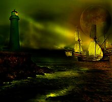Sail by Moon Light by Andrew (ark photograhy art)