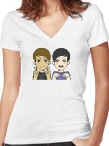 facdnp Women's Fitted V-Neck T-Shirt