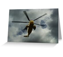 RAF rescue helicopter Greeting Card